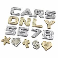 Number Letter Bling DIY Ho 3D Metal Crystal Auto Car Motor Emblem Badge Sticker