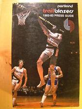 Portland Trail Blazers 1982 - 1983 Information Media Press Guide NBA Basketball
