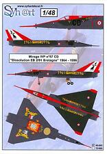 "Syhart Decals 1/48 French MIRAGE IVP ""Dissolution EB 2/91 Bretagne 1964-1996"