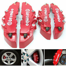 4Pcs Front Rear 3D BREMBO Style Car  Disc Brake Caliper Covers Set Universal New