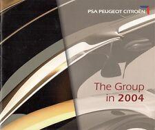 PSA PEUGEOT CITROEN 2004 mercato del Regno Unito BROCHURE aziendale