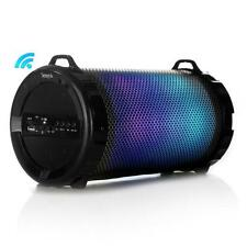 Pro-TubeFX SLBSP18 Portable Bluetooth Boombox Speaker Radio DJ Lights Battery