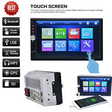 """7"""" Car Stereo Autoradio 2 Din In Dash SD/USB AUX FM MP3 MP5 Player Touch Screen"""