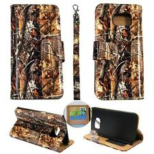 For Samsung Galaxy Note 5 N920 Ck Wallet Camo Brown Oak Cover Case Uni
