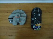 Mighty Beanz Tin Darth Vader Case & Millennium Falcon With 66 Star Wars Beanz