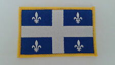1 pc New QUEBEC FLAG Emb patch 9CM X 6CM WITH VELCRO BACK