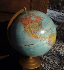 "Globemaster Globe 12"" Diameter Raised Map World Made Is USA/stand"