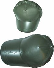 Lot of 2 New leather Baseball caps Green leather cap Head wear fashion hat BNWT