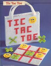 TIC TAC TOE GAME WITH TOTE BAG HOLDER PLASTIC CANVAS PATTERN INSTRUCTIONS