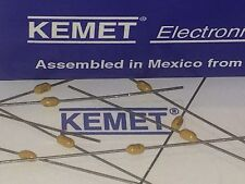 KEMET BEST QUALITY MULTI LAYER CERAMIC AXIAL CAP .33uF 330nF 50V  x6       ad2p2