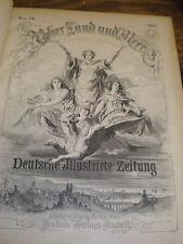 Leather Bound 1894-1895 Ueber Land und Meer, Deutsche Illustrierte