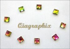 288 Pcs Iron On Hotfix Square Crystal Rhinestones Vitrail Medium 6x6mm,  RSV6