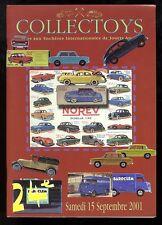COLLECTOYS  24 eme  vente de jouets anciens      15 septembre 2001