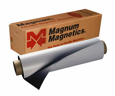 "Magnetic sign material Vinyl sheet 24x12"" 30 mil car magnet 3 sheets white Magun"