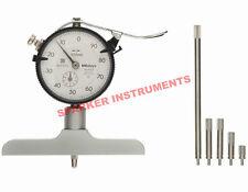 Brand New Mitutoyo 7212 Dial Depth Gauge 0-200*0.01mm