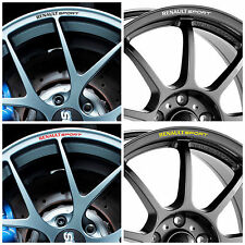 x8 RENAULT SPORT Rims Alloy Wheel Curved Decals Stickers Clio Megane Twingo ...