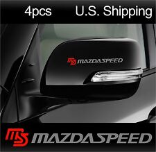 4 MAZDASPEED sticker decals MAZDA 3 Door handle Wheels Wing Mirror Racing SILVER