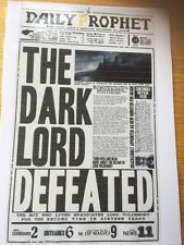 Harry Potter Inspired Laminated Daily Prophet Front Page The Dark Lord Defeated