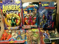 Toy Biz X-Men Avengers Spider-Man Lot Quicksilver Jubilee Brood Colossus