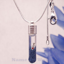 Name on rice Long Tube charm pendant included necklace. Unique gift