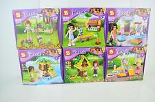 Lots of 6 sets Friend Girl series building toys all new box in