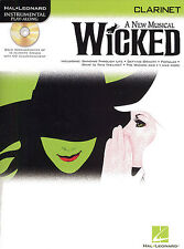WICKED A new Musical Clarinet Sheet Music Book + CD NEW