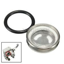 18mm Motorcycle Bike Brake Master Cylinder Reservoir Sight Glass Lens + Gasket