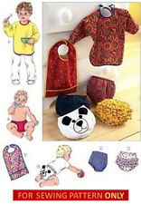 RETIRED SEWING PATTERN! MAKE BABY DIAPER COVERS~3 STYLES! BIB WITH SLEEVES!