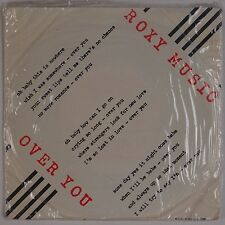 "ROXY MUSIC: Over You Manifesto Import 7"" Polydor SHRINK 45 w/ PS Glam NM-"