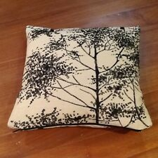 Laura Ashley Silver Birch Charcoal Fabric Cushion Cover. Stunning! Reversible!