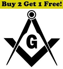 Freemason Logo Vinyl Decal Sticker Car Bumper Window Wall Masonic Fraternity