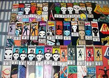 Lot of 37 PUNISHER Comics from #2 to #90 from 1987 up Daredevil Netflix Series