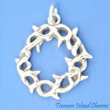 CROWN OF THORNS .925 Solid Sterling Silver Charm or Pendant