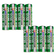 8x AA HR06 7dayshop 2150 mAh Good to Go STAY CHARGED NiMH Rechargeable Batteries