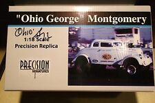 1933 WILLYS GASSER OHIO GEORGE MONTGOMERY BOX AUTOGRAPHED NHRA DRAG RACING 1:18
