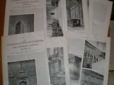 2 Articles photos The Divinity School Oxford 1929