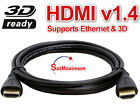 PREMIUM HDMI CABLE 12FT For BLURAY 3D DVD PS3 HDTV XBOX LCD HD TV 1080P USA
