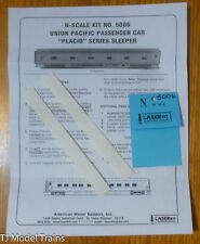 American Model Builders #5006 Car Sides for: Union Pacific Pass Car Sleeper