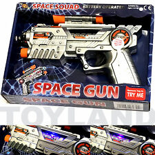 SPACE BLASTER GUN NOISY PISTOL ALIEN TOY BOYS GIFT BIRTHDAY PARTY BAG FILLER