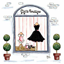 "GIGI'S BOUTIQUE DRESS SHOP POSTER  SMALL - 9"" X 9"""
