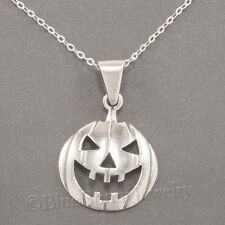JACK-O-LANTERN Charm Pendant 925 STERLING SILVER Necklace Halloween Pumpkin