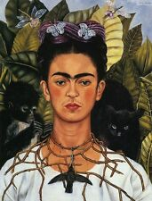 A3 - FRIDA KAHLO SELF PORTRAIT WI - FAMOUS PAINTERS CLASSIC PAINTINGS Posters #4