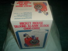 Collectible Disney Mickey Mouse Train Conductor Talking Alarm Clock in Box 😃