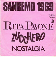 "RITA PAVONE-ZUCCHERO-RARE ORIGINAL DIFFERENT  YUGOSLAV PS 45rpm 7"" SINGLE 1969"
