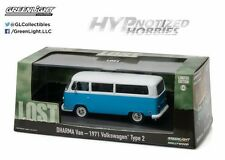 GREENLIGHT 1:43 LOST DHARMA VAN - 1971 VOLKSWAGEN TYPE 2 BLUE 86471