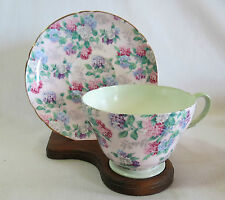 Shelley/Henley Summer Glory Floral on Pink Chintz Cups & Saucer Set(s)