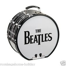 72170 The Beatles Drum Shaped Tin Tote Lunch Box British Rock Band Music