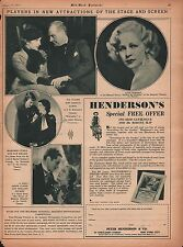 1933 Player Attractions @ Stage & Screen+Claire,Dunne,Holmes,Keller,Korff,Lytell