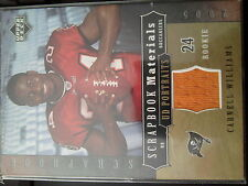 2005 Upper Deck UD Portraits Carnell Williams Scrapbook Materials Rookie Jersey