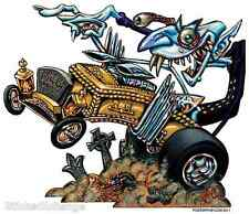 Count Dragula Hotrod Coffin Sticker Decal Artist Big Toe BT39 Roth Like